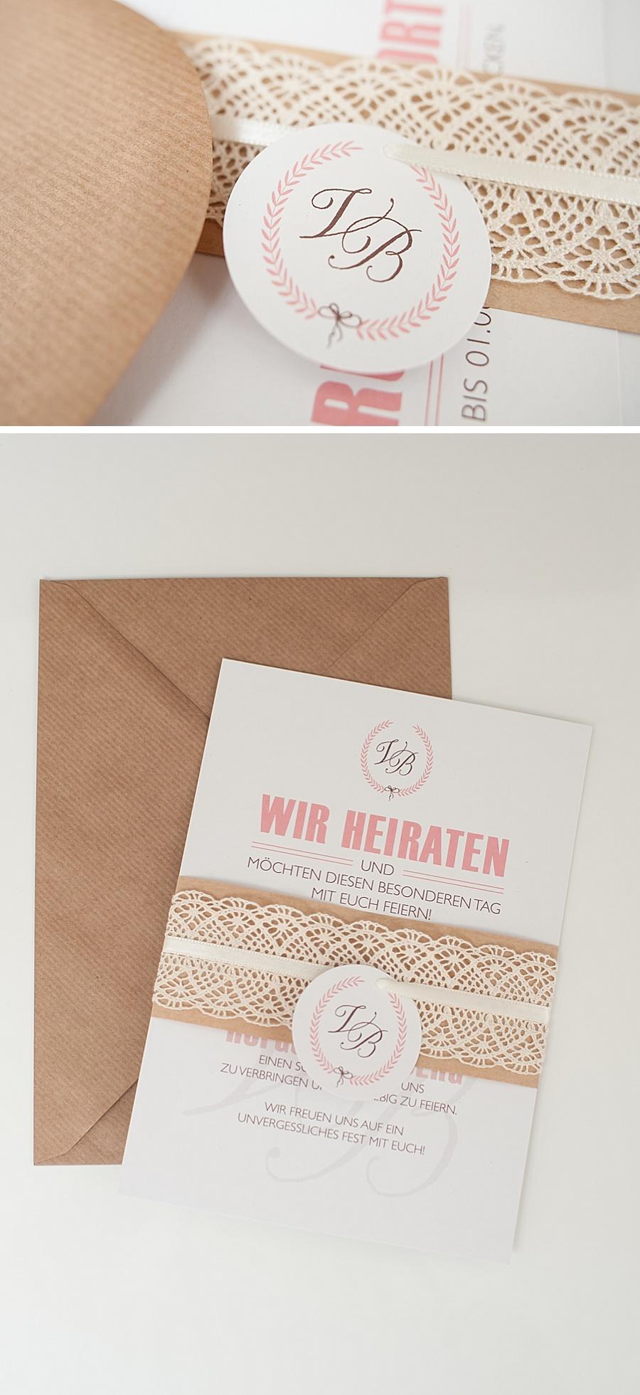 Die auf Recyclingpapier gedruckten Karten wurden mit Kraftpapier ...